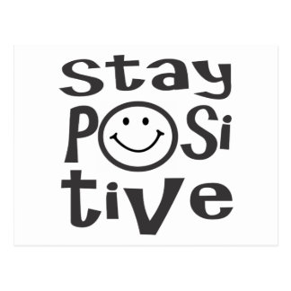 Stay Positive with Happy Face Postcard