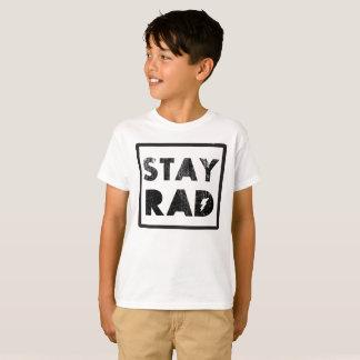 Stay Rad 1980's Vintage Retro Graphic Tee Shirt
