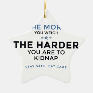 Stay Safe Eat Cake Ceramic Ornament