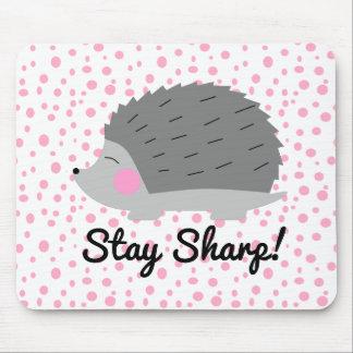 Stay Sharp Hedgehog Mousepad