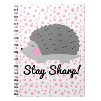 Stay Sharp Hedgehog Notebook