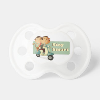 Stay Smart Scooter Monkeys Baby Pacifier