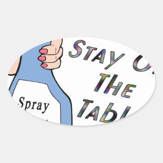 Stay Spray Oval Stickers