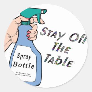 Stay Spray Round Stickers