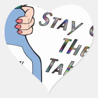 Stay Spray Heart Sticker