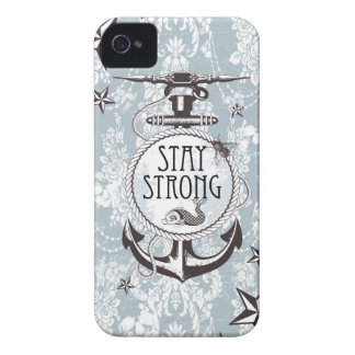 Stay Strong Blue Nautical Products. Case-Mate iPhone 4 Cases