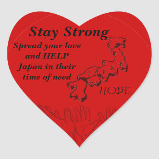 Stay Strong_ Heart Sticker