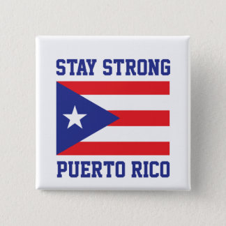 Stay Strong Puerto Rico 2 Inch Square Button