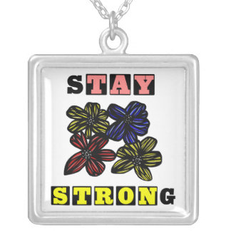 """""""Stay Strong"""" Sterling Silver Necklace"""
