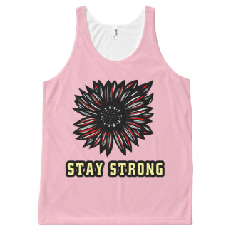 """""""Stay Strong"""" Unisex Tanktop All-Over-Print Tank Top"""