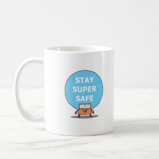 STAY SUPER SAFE mug. Basic White Mug