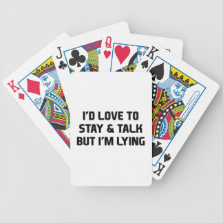 Stay & Talk Bicycle Playing Cards
