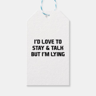 Stay & Talk Pack Of Gift Tags