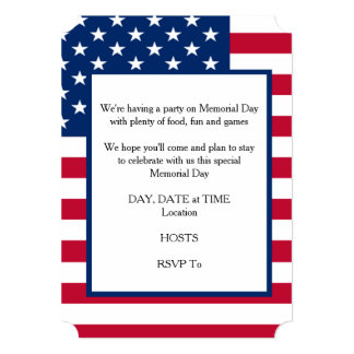 Stay To Celebrate Memorial Day Party Invitation
