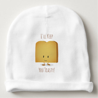 Stay Toasty Character Illustration | Baby Hat Baby Beanie