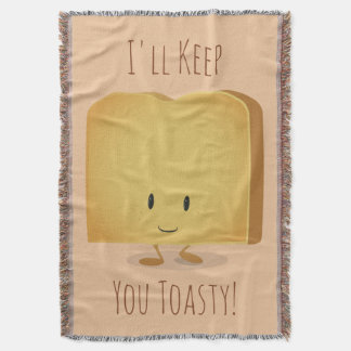 Stay Toasty Character Illustration | Throw Blanket