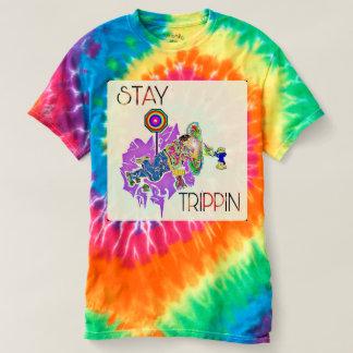Stay Trippin' Tye Dye Design T-shirt