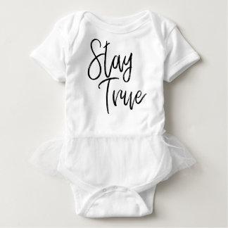 Stay True word art brush effect Baby Bodysuit
