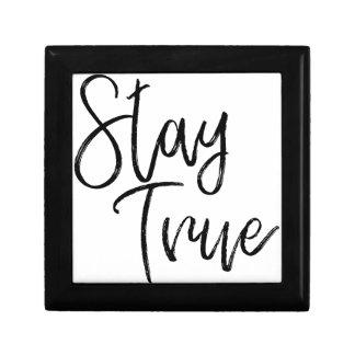 Stay True word art brush effect Gift Box