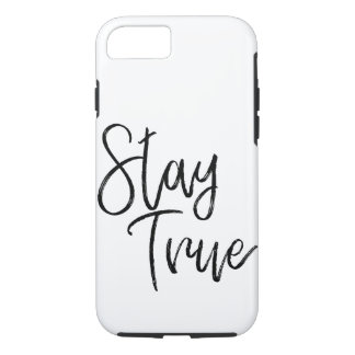Stay True word art brush effect iPhone 8/7 Case