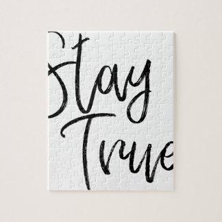 Stay True word art brush effect Jigsaw Puzzle