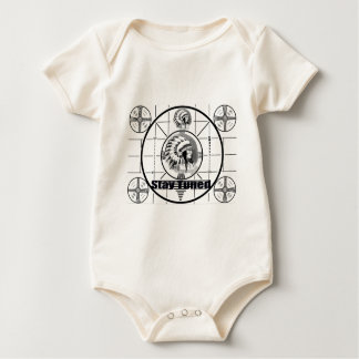 Stay Tuned with Indain Head Test Pattern Baby Bodysuit