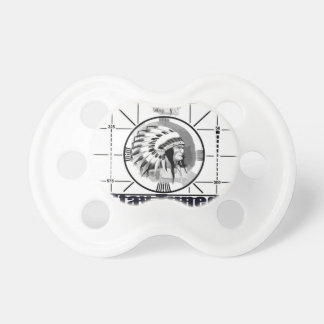 Stay Tuned with Indain Head Test Pattern Baby Pacifier