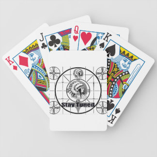 Stay Tuned with Indain Head Test Pattern Bicycle Playing Cards
