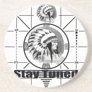Stay Tuned with Indain Head Test Pattern Coaster