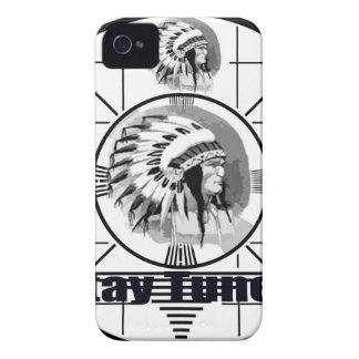 Stay Tuned with Indain Head Test Pattern iPhone 4 Case-Mate Cases