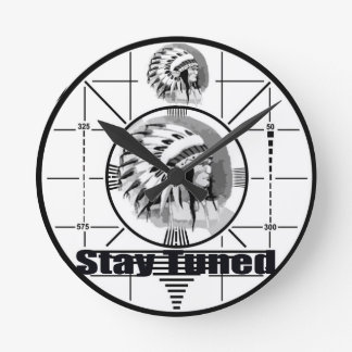 Stay Tuned with Indain Head Test Pattern Round Clock