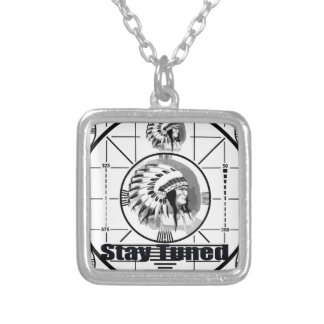 Stay Tuned with Indain Head Test Pattern Silver Plated Necklace