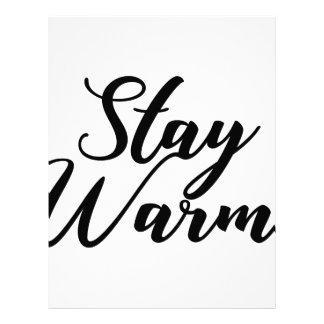 Stay-Warm Letterhead