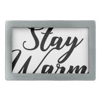 Stay-Warm Rectangular Belt Buckle
