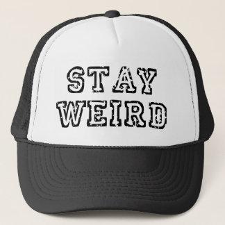 Stay Weird Black Trucker Hat