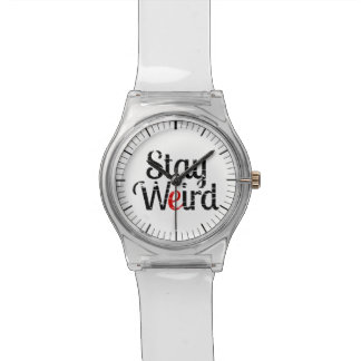 Stay Weird Distress Text Watch