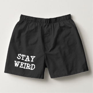 STAY WEIRD funny boxer shorts underwear for men Boxers