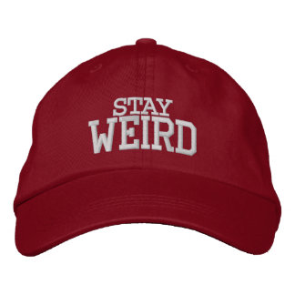 STAY WEIRD funny sports hat | Custom color caps