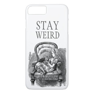 Stay weird vintage Alice in Wonderland kitten cat iPhone 7 Plus Case