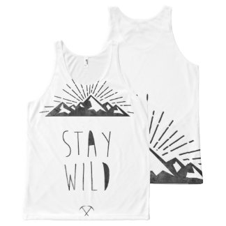 STAY WILD All-Over-Print TANK TOP