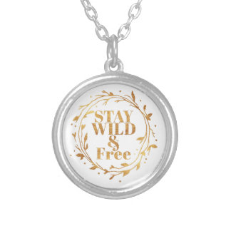 stay wild and free in GOLD Silver Plated Necklace