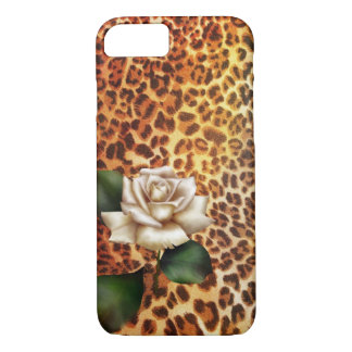 Stay Wild Animal print leopard white rose iPhone 8/7 Case