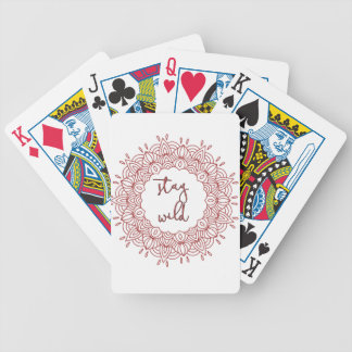 Stay Wild Boho Gypsy Design Bicycle Playing Cards