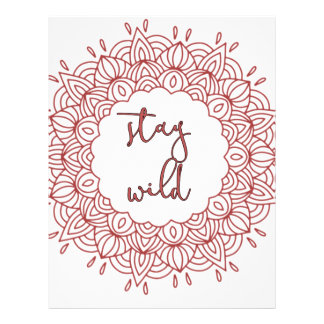 Stay Wild Boho Gypsy Design Letterhead
