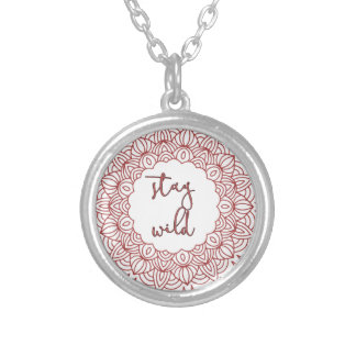 Stay Wild Boho Gypsy Design Silver Plated Necklace