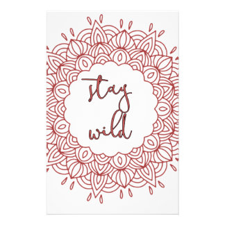 Stay Wild Boho Gypsy Design Stationery