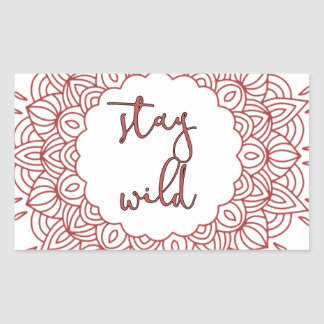 Stay Wild Boho Gypsy Design Sticker