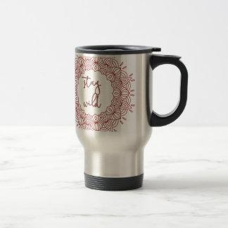 Stay Wild Boho Gypsy Design Travel Mug