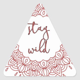 Stay Wild Boho Gypsy Design Triangle Sticker