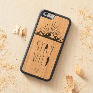 STAY WILD CHERRY iPhone 6 BUMPER CASE